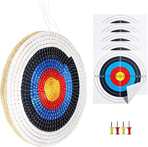 Funtress Paille Solide traditionnelle Ronde 3 couches Visage de cible de tir à l'arc fait à la...