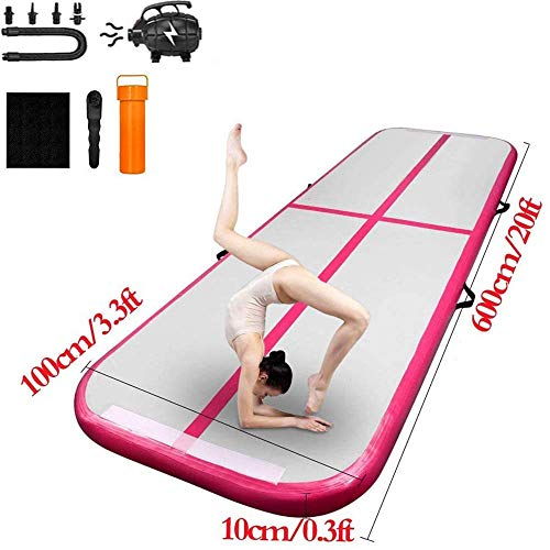 13Ft Air Track Inflatable Floor Tumbling Mat Gymnastic 8in Thick Water Sport