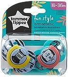 Tommee Tippee Succhietti Fun Style, 18-36 Mesi, Modelli Assortiti, 2 pezzi, Multicolore (Zebre)