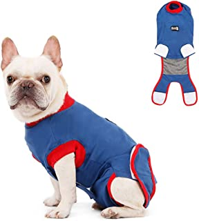 Tylu Soft Fabric Collar Alternative Dog Recovery Suit Anti-Licking Pet Surgical Recovery Snuggly Suit