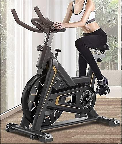 SKYWPOJU Bicicleta de ejercicio para interiores con resistencia magnética (nueva versión mejorada), súper silenciosa, capacidad de 330 libras, monitor LCD, soporte para botellas, entrenamiento cardiov