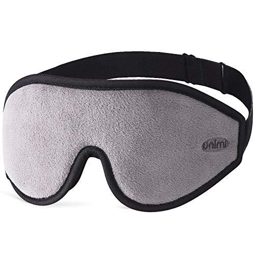 Unimi Premium Schlafmaske Damen und Herren, NULL-Druck 3D konturierte verbesserte Augenmaske, verstecktes Nasenflügel-Design ermöglicht absolute Dunkelheit, 100{0a77046d67b4dd69f2d773c62ad1585e7434bd956313c90c78ddb312b6b970ee} hautfreundliche Seide Augenmaske