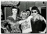 David Bowie mit Iggy Pop Star Vintage Malerei Poster Kunst