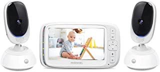 """Motorola Comfort 75-2 Video Baby and Home Monitor, 5"""" LCD Color Screen Display, 2 Cameras with Remote Pan Scan, Two-Way Co..."""