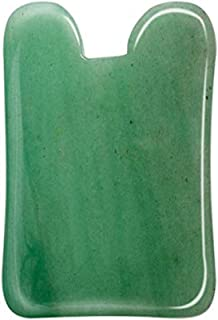 Jade Gua Sha Scraping Massage Tool, Medical Grade Jade Guasha Board, Great Handmade Tools for SPA Acupuncture Treatment, Reducing Neck and Muscle Pain, Ahier Anti-Aging Wrinkle on Face and Body