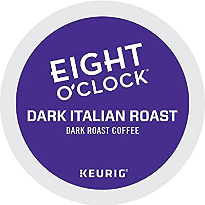 Eight O'Clock Coffee Dark Italian Roast, Single-Serve Keurig K-Cup Pods, Dark Roast Coffee, 72 Count
