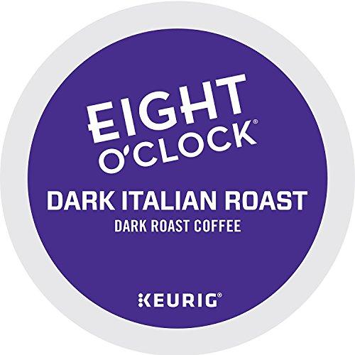Eight O'Clock Coffee Dark Italian Roast, Single-Serve Keurig K-Cup Pods, Dark Roast Coffee, 72 Count