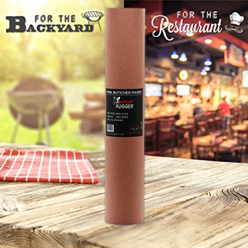 Pink Butcher BBQ Paper Roll (18 Inch by 150 Feet) - Food Grade Peach Wrapping Paper for Smoking Beef Brisket Meat Texas Style, All Natural and Unbleached