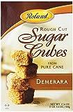 Roland Rough Cut Demerara Sugar Cubes, 17.6-Ounce Boxes (Pack of 6)