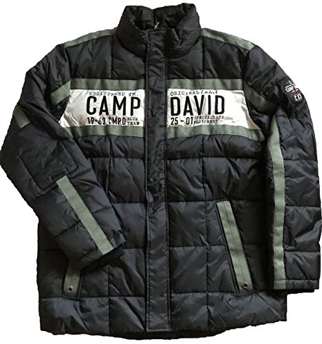 Camp David Herren Steppjacke mit Logo-Applikation