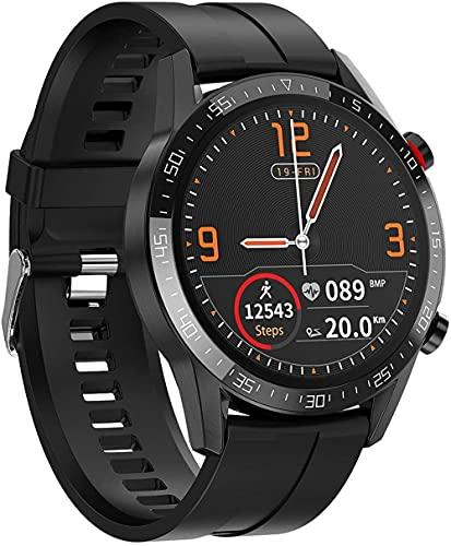 JSL Reloj inteligente 1 pantalla de alta definición de 3 pulgadas Bluetooth llamada notificación información push IP68 impermeable desgaste diario/rojo/cinta-negro/cinta