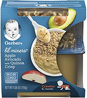 Gerber Purees Crawler Lil' Mixers Ancient Grain Crisps with Apple Avocado, 6Count