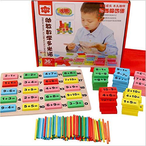 Enfants Numérique Domino 3-4-5-6-7 Ans Garçons Filles Bébés Bébés Éducation Précoce Puzzle Blocs de Construction Jouets pour Enfants Cadeaux