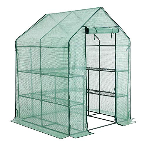 YOUKE Walk-in Greenhouse PE Cloth Cover Garden House Succulent Plants Flowers Green Plant Insulation...