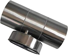YARNOW Rvs Wandlamp Weerbestendig Outdoor Cilinder Dubbele Hoofd Wandkandelaar Lamp Voor Thuis Slaapkamer Tuin Veranda Pat...