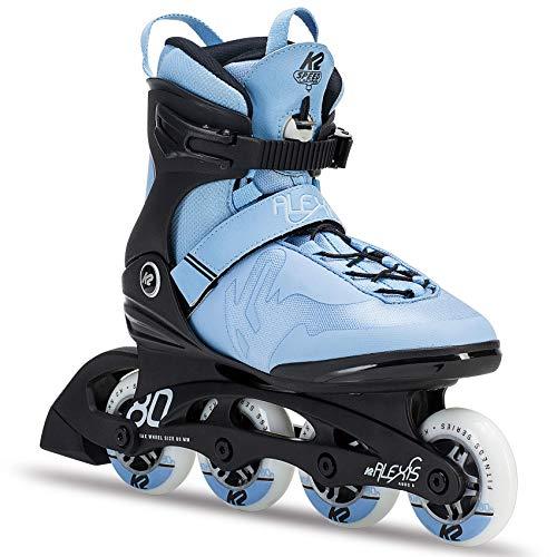 K2 Inline Skates ALEXIS 80 PRO Für Damen Mit K2 Softboot, Black - Light Blue, 30C0817