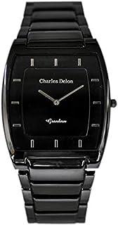 Charles Delon Mens Quartz Watch, Analog Display and Stainless Steel Strap 4892 GBBB