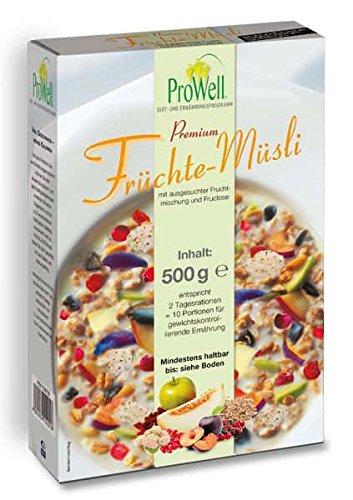 ProWell Diät- und Ernährungsprogramm - Premium Früchte-Müsli - 500 g (10 Portionen)