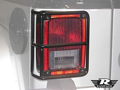 RAMPAGE PRODUCTS 88660 Black Euro Taillight Guards for 2007-2018 Jeep Wrangler JK