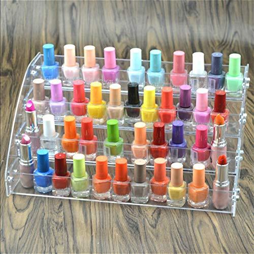 Mehrschichtiger transparenter Lippenstift Nagellackhalter Displayständer Klar Acryl Tragbares Make-up Aufbewahrungsorganisator-Gestell; transparent Candyboom