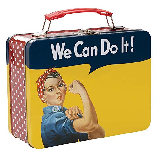 Smithsonian - Rosie The Riveter - We Can Do It! - Large Tin Tote Lunch Box - 61160