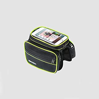 Bicycle Shoulder Bag,mountain Bike Bag,waterproof Mobile Phone Riding Equipment Accessory Bag. Send Rain Cover,touch Scree...