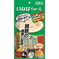 【セット販売】いなば 犬用ちゅ~る 関節の健康に配慮 とりささみ (14g×4本)×6コ[ちゅーる]