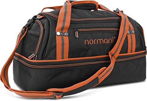 normani Sporttasche 90   58   28 Liter Reisetasche mit separatem Schmutzwäsche- und Schuhfach Sportlich Schlichtes Design Weekender Farbe 28 Liter Orange
