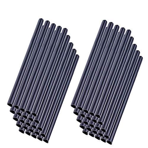 Froadp 50 Stück PVC Befestigungsclips Sichtschutzstreifen Sichtschutz Klebestreifen zur Befestigung Anthrazit