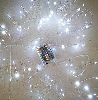 Filo luci micro LED 10 mt bianco freddo