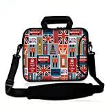 Fashion Ultra-light Waterproof Anti-Shock Neoprene Unique style 17 17.3 inch Netbook/ MacBook Pro Retina Display/Laptop/Computer Briefcase Pouch Sleeve Carrying Case Cover Tote Handle bagsLondon
