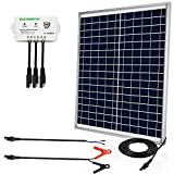 ECO-Worthy [Upgraded] 25 Watts 12V Off Grid Solar Panel SAE Connector Kit: Waterproof...