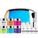 IRIS Cosmetics Kit de inmersión de uñas | Set de iniciación de polvo acrílico y líquido | uñas de salón en casa