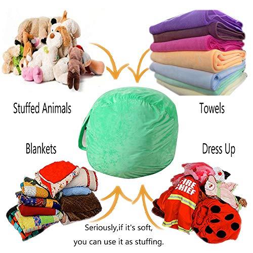 Super weiche Hause Aufbewahrungstasche, Kinder plüschtier plüsch Spielzeug lagerung sitzsack weiche Tasche gestreifte Tuch Stuhl