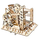 ROBOTIME 3D Puzzle Engineering Toys STEM Learning Kits Wooden Laser-Cut Model Kit Best Mechanical Gears Toy Gifts