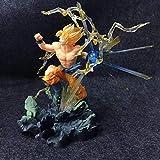 HZLQ Dragon Ball Son Goku Super Saiyan Kakarotto Personaje Animado de la Estatua Modelo de Anime Modo de Batalla Colección de Arte Figura de Juguete 19cm 19cm