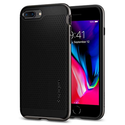 Spigen Cover Neo Hybrid 2 Compatibile con iPhone 8 Plus Compatibile con iPhone 7 Plus - Gunmetal