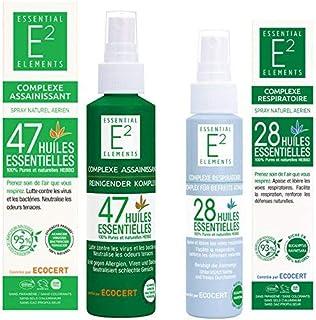 Kit de protección : Spray desinfectante con 47 aceites esenciales Spray respiratorio con 28 aceites esenciales (facilita l...