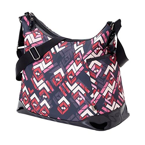 OiOi Hobo Rose Chevron Patent Diaper Bag Tote Handbag 6603