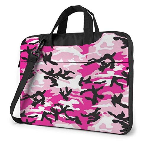 15.6 Inch Pink Camo Laptop Messenger Bag Briefcase Notebook Bussiness Handbag