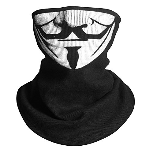 INNTURT Vendetta Fabric Mask Hood Face Balaclava Outdoor Cosplay Half