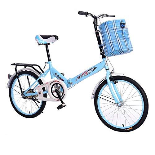 Marco de Aluminio Plegable de Bicicletas de 20 Pulgadas Ligera Adulto Bicicleta...