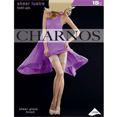 Charnos Damas 1Par 15Denier Sheer lustre Hold Ups En 4Colores Dorado Natural...