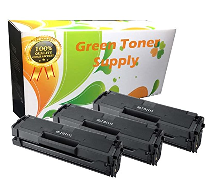 GTS Compatible Toner Replacement MLT-D111S for Samsung SL-M2020W SL-M2070FW (Black, 3 Pack))
