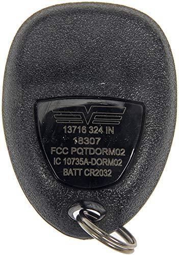 Dorman 13716 Keyless Entry Transmitter for Select Models, Black