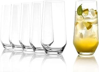 Stölzle Lausitz Szklanki do wody/long drinków Revolution 390 ml, zestaw 6 szklanek, nadają się do mycia w zmywarce, wysoka...