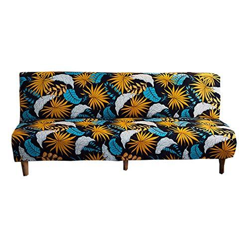 ZHFEL Sin Brazos Funda Elástica de Sofá Impreso,3 plazas Funda Sofa Cama Universal Antideslizante Lavable AntiArañazos Plegable Protector de futón para Futón Couch Bench-K