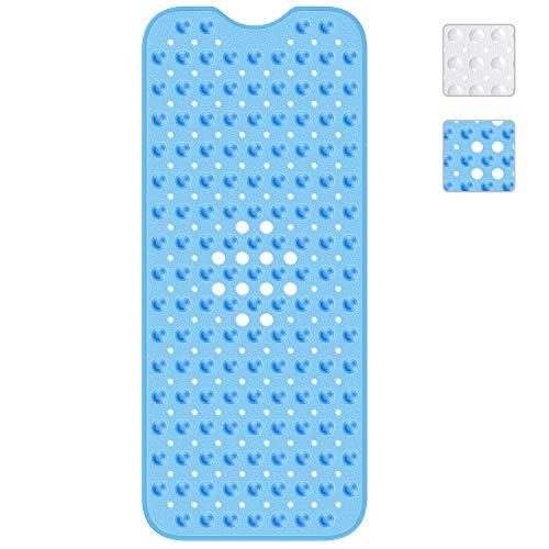 Baozun Badewannenmatte Duschmatte Badewanneneinlage Antirutschmatte 100x40 cm rutschfest Maschinenwaschbar-Blau