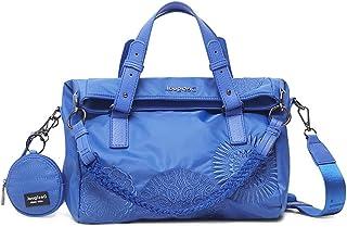 Desigual Womens BOLS_MANDARALA LO Hand Bag, Blue, One Size