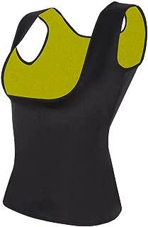 GoldFin Women Sauna Vest Cami Hot Shaper Neoprene Sweat Vest, Waist Trainer Slimming Vest for Tummy Control BS012